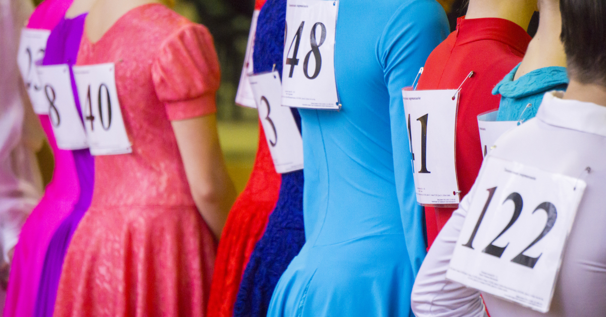 Dance competitors lined up